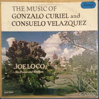Joe Loco - The Music Of Gonzalo Curriel and Consuelo Velazquez, Ansonia Records ALP-1253 front